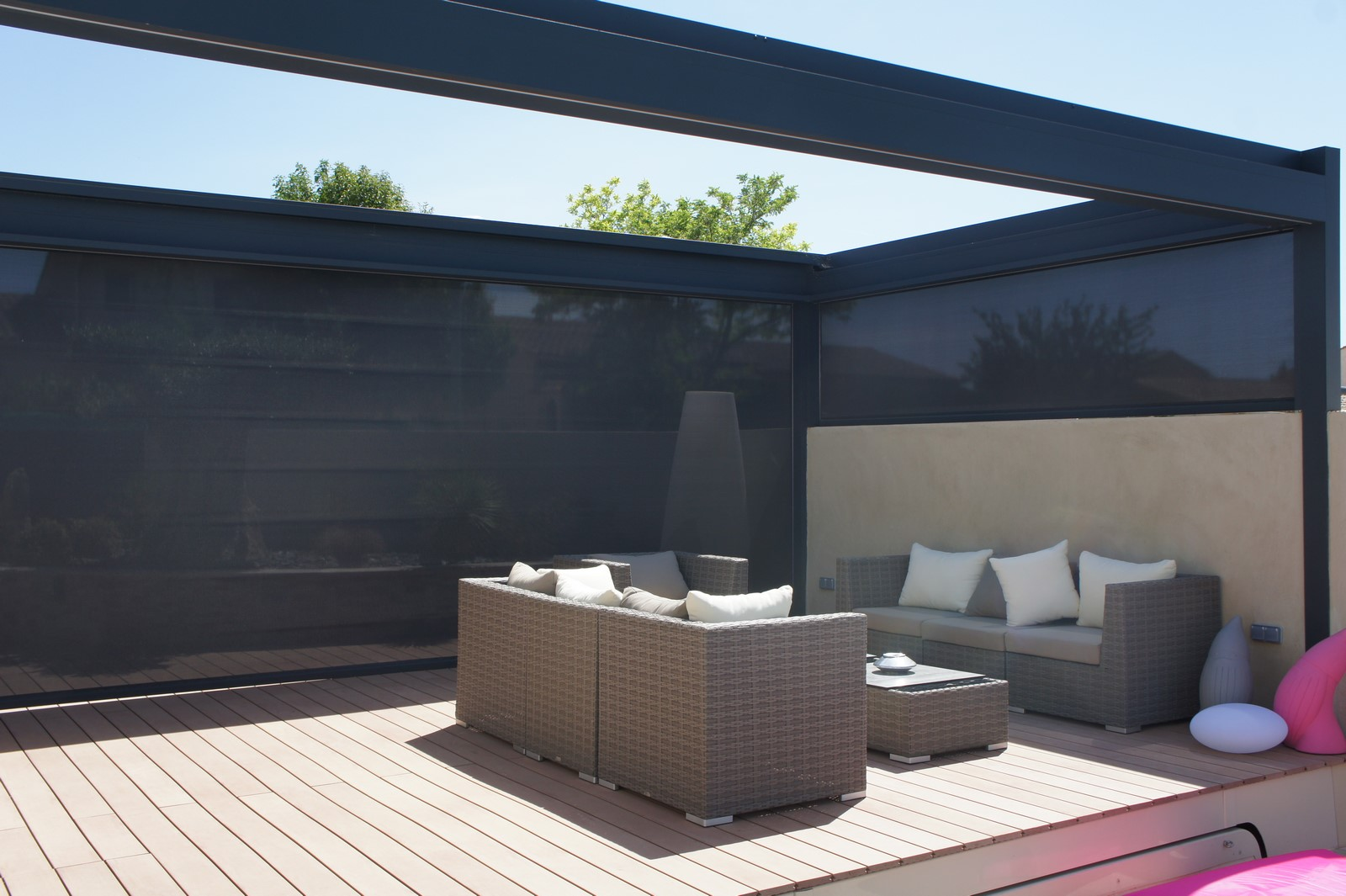 pergola toit r tractable brustor b300 marignane. Black Bedroom Furniture Sets. Home Design Ideas